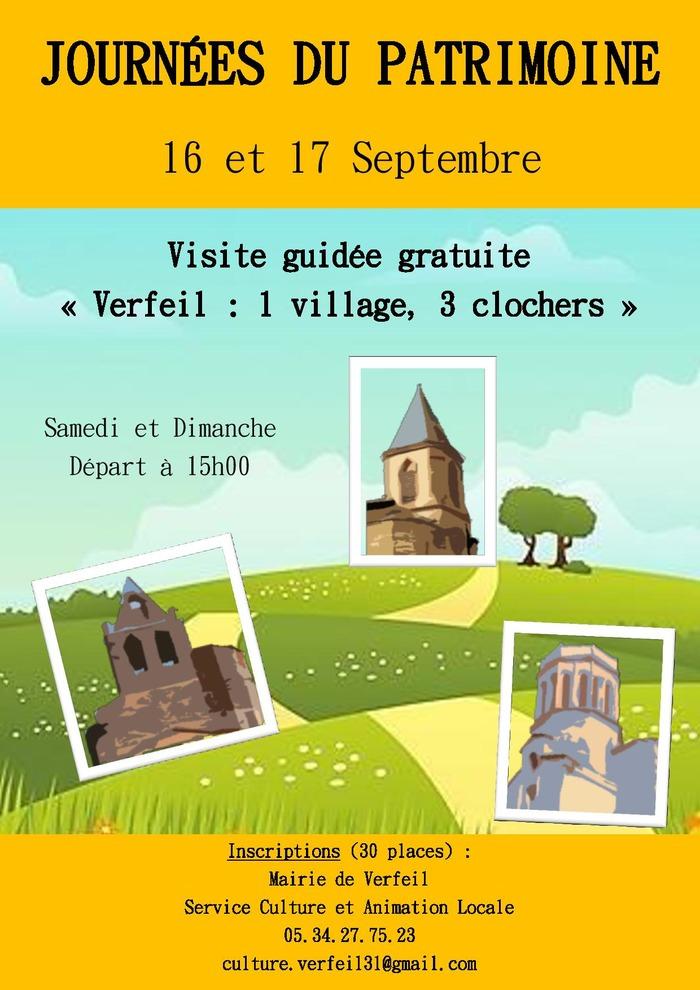 Journées du patrimoine 2017 - Verfeil : 1 village, 3 clochers