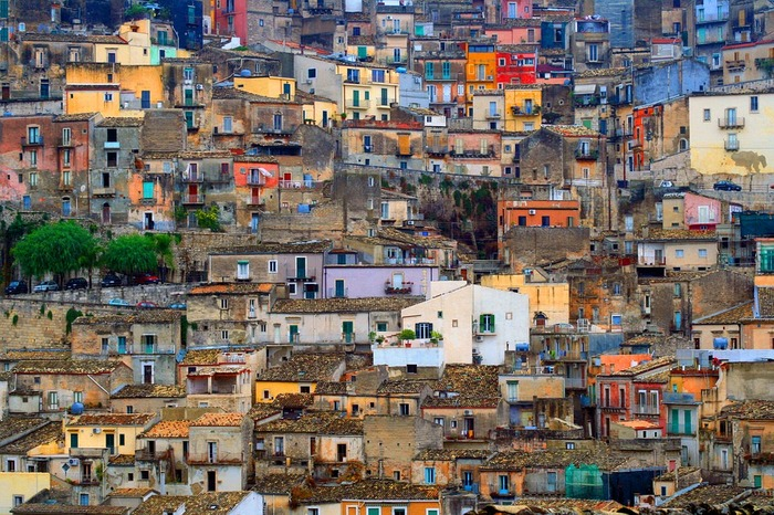 Vidéo-projection sur la Sicile