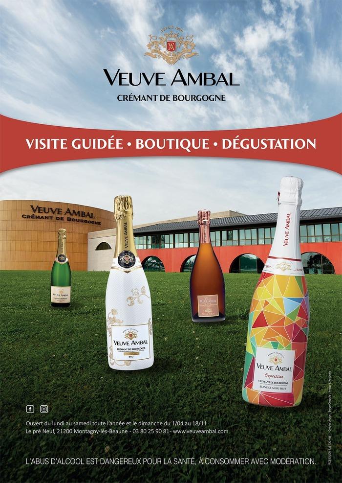 Journées du patrimoine 2018 - Découvrez la production de crémant de Bourgogne de la Veuve Ambal