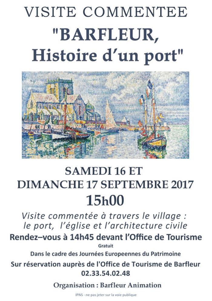 Journées du patrimoine 2017 - Visite commentée « Barfleur, histoire d'un port »
