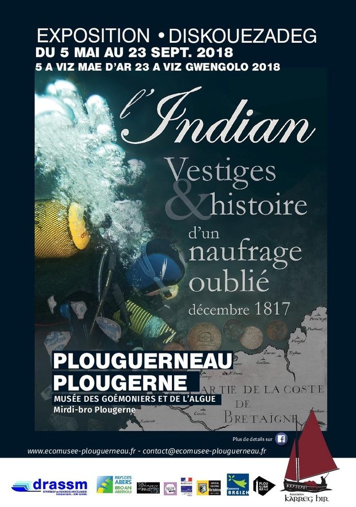 Journées du patrimoine 2018 - Visite commentée de l'exposition Indian : vestiges & histoire d'un naufrage oublié