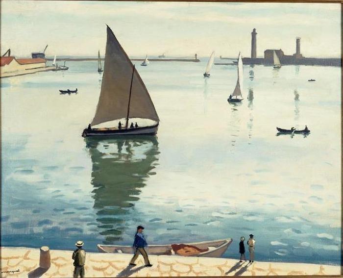 Crédits image : Albert Marquet, Voiliers à Sète, 1924, Musée Paul Valéry