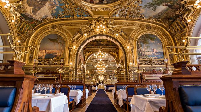 Journées du patrimoine 2017 - Visite commentée du restaurant Le Train Bleu de la Gare de Lyon.