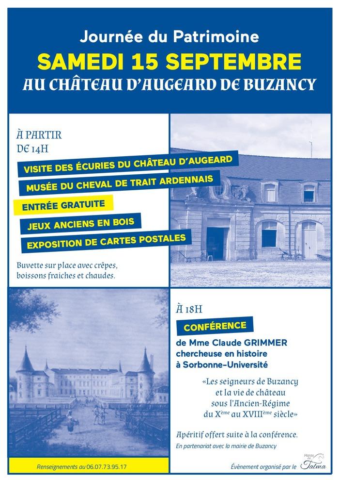 Journées du patrimoine 2018 - Journée du Patrimoine aux Ecuries du Château d'Augeard : animations et conférence !