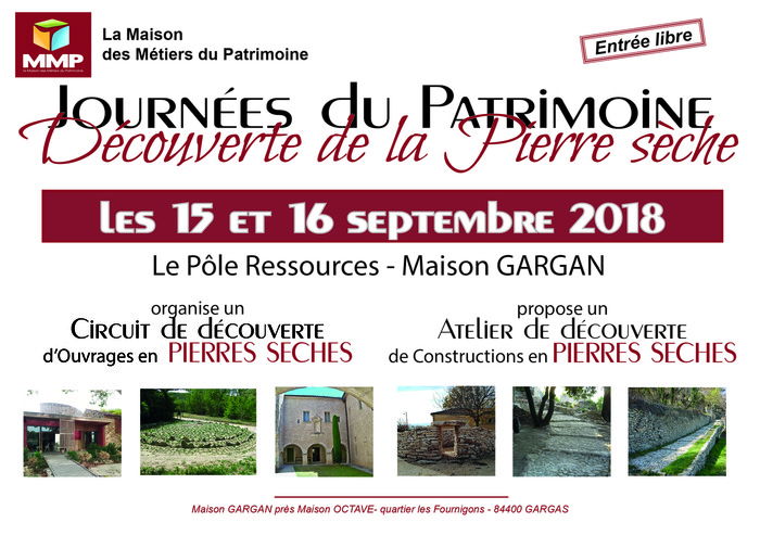 Journées du patrimoine 2018 - Visite de découverte de la Pierre Sèche