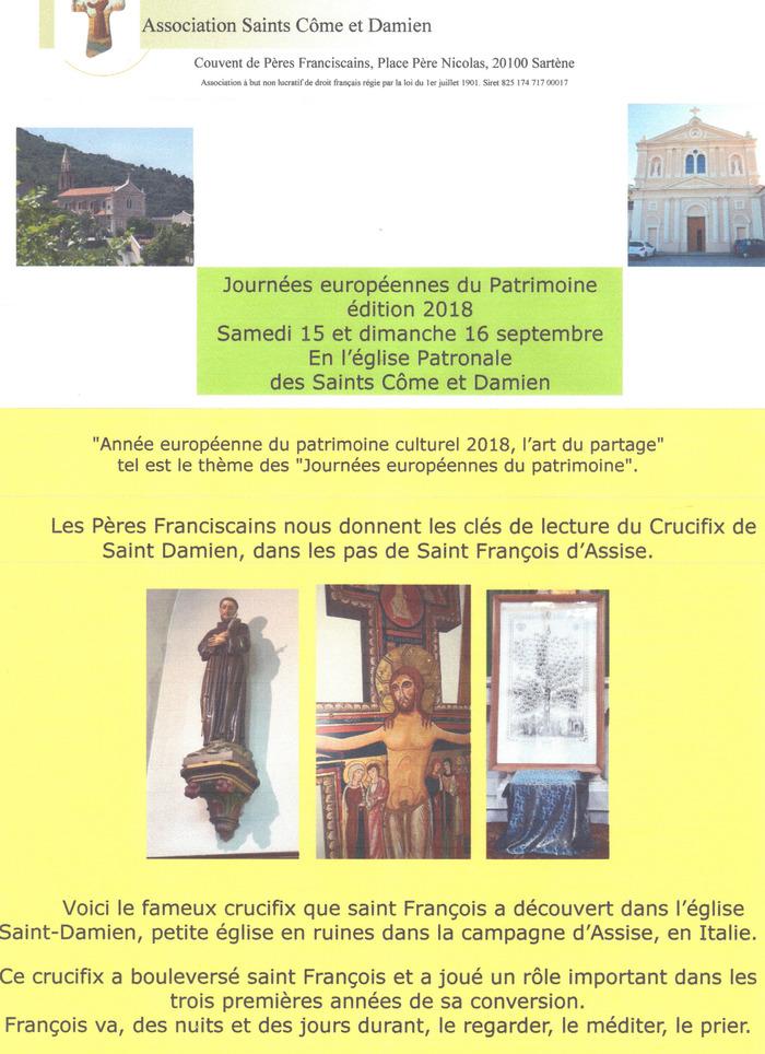 Journées du patrimoine 2018 - Visite de l'église des Saints Côme et Damien