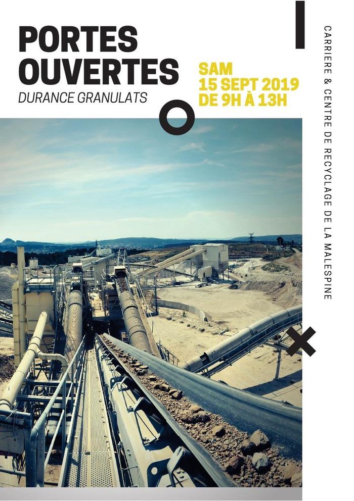 Journées du patrimoine 2018 - Visite de la carrière et de l'Unité de recyclage de Malespine