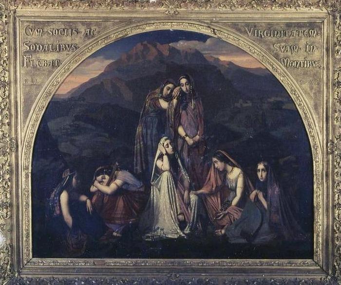 Crédits image : H.Lehman, La fille de Jephté, Collection Mairie de Bourron-Marlotte. Y Bourhis CD77
