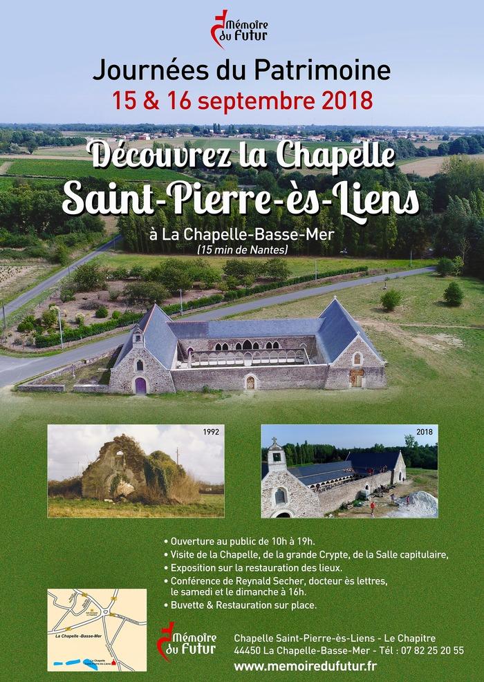 Journées du patrimoine 2018 - Visite de la restauration de La Chapelle Saint-Pierre-ès-Liens