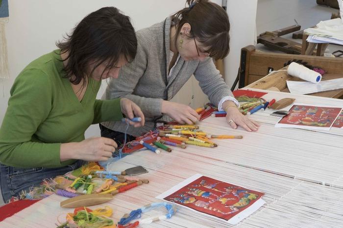 Journées du patrimoine 2018 - Visite de la section du Greta, formation aux métiers de Lissiers au lycée Eugène-Jamot