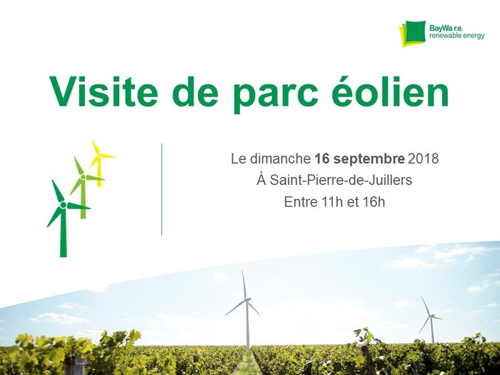 Journées du patrimoine 2018 - Visite guidée du parc éolien