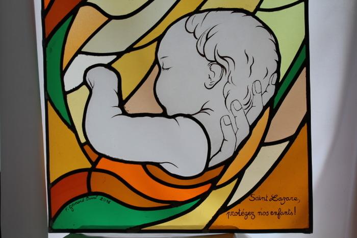 Journées du patrimoine 2018 - Démonstration d'un atelier de création et de restauration de vitraux.