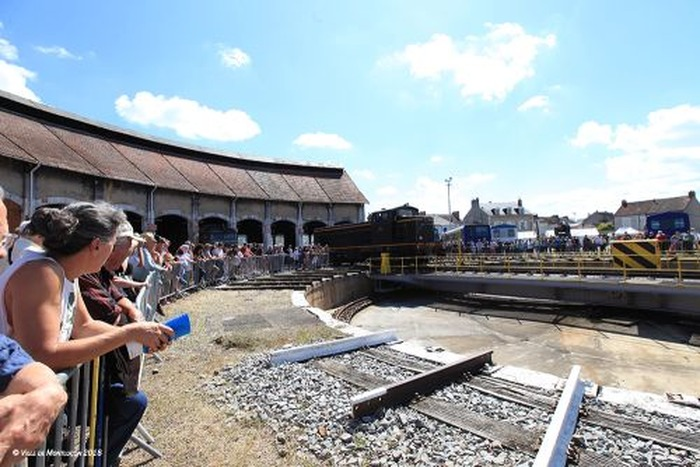 Journées du patrimoine 2018 - Visite des installations de l'ancien dépôt SNCF de Montluçon.