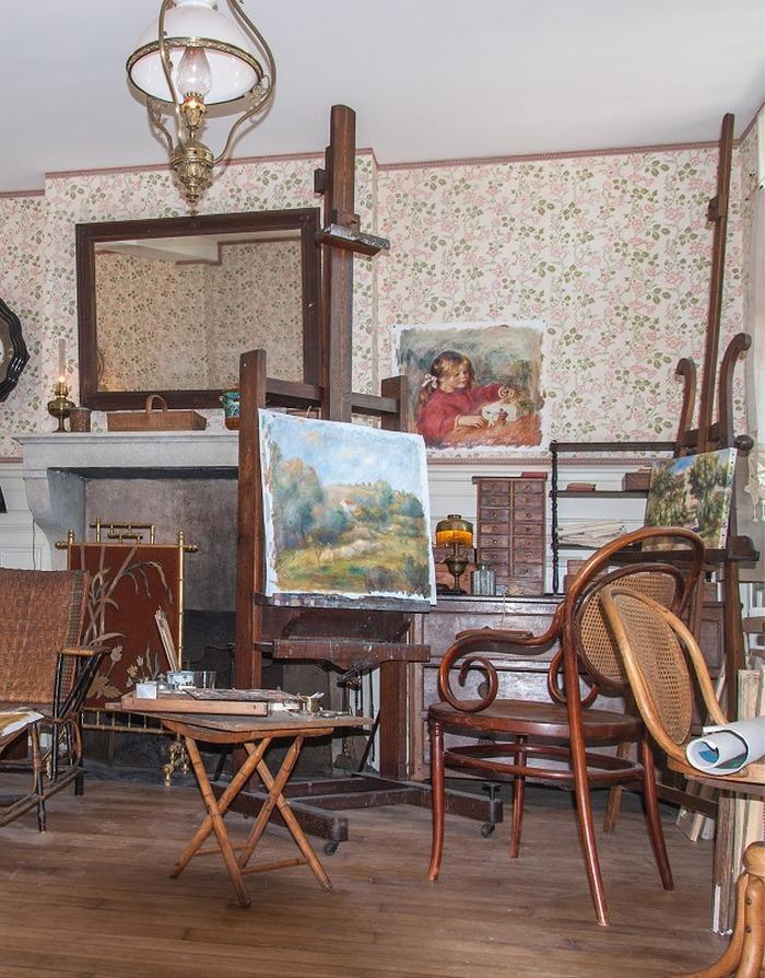 Journées du patrimoine 2018 - Visite des sites Renoir à Essoyes, le village des Renoir : la maison et l'atelier du peintre, l'espace dédié à cette famille d'artistes
