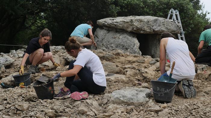 Journées du patrimoine 2018 - Visite du chantier de fouille archéologique du dolmen de la Combe de Bonne fille.