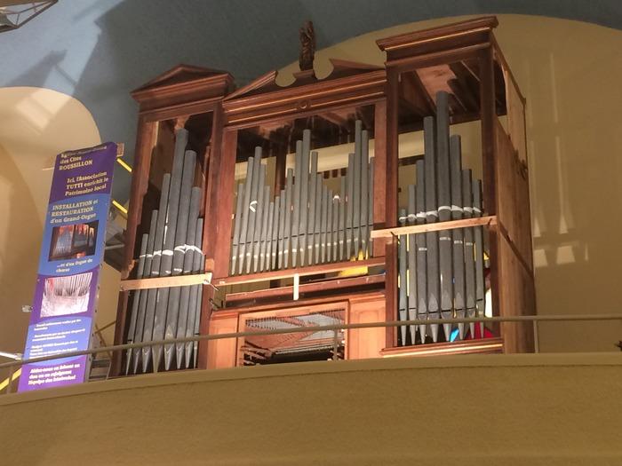 Journées du patrimoine 2018 - Visite du chantier de reconstruction de l'orgue