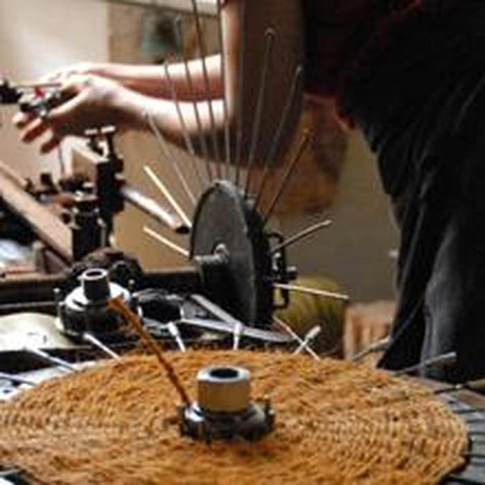 Journées du patrimoine 2018 - Visite du dernier atelier de fabrication de scourtins de France.