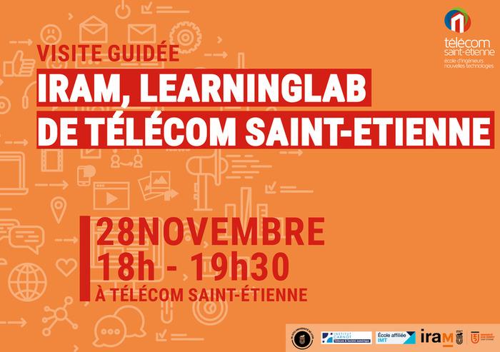 Visite du Learning Lab IRAM à Télécom Saint-Étienne