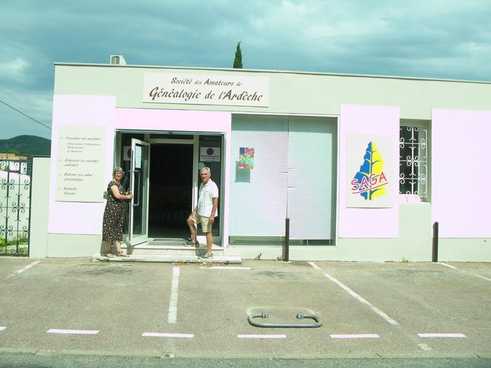 Journées du patrimoine 2018 - Visite du local de la SAGA (Société des Amateurs de Généalogie de l'Ardèche).