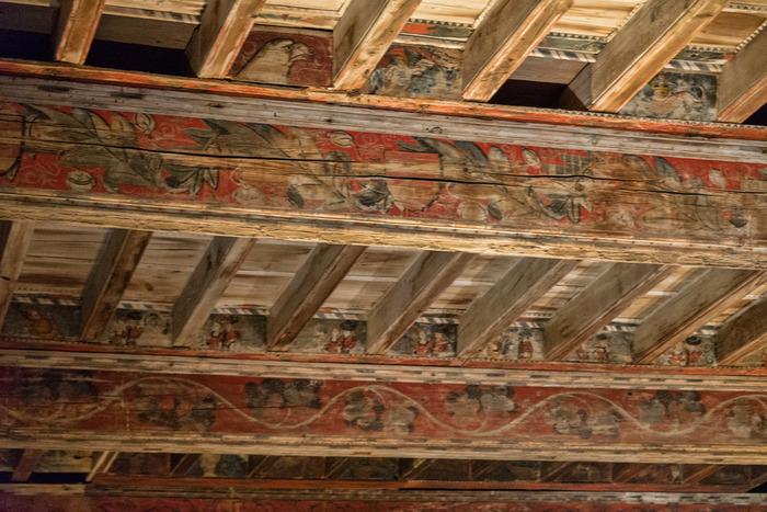 plafond peint du ch teau des archev ques de narbonne. Black Bedroom Furniture Sets. Home Design Ideas