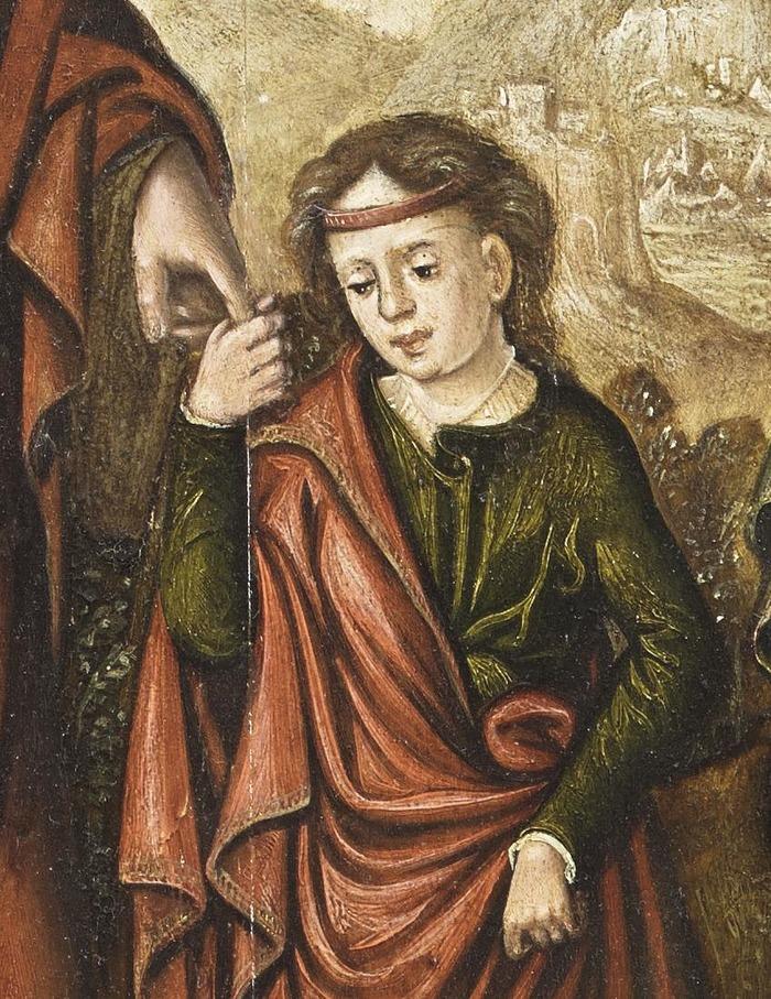 Crédits image : Détail du Retable du Couronnement de la Vierge, RMN/Benoit Touchard