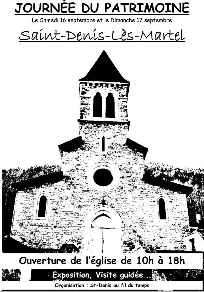 Journées du patrimoine 2017 - Visite libre de l'église de Saint-Denis-Lès-Martel