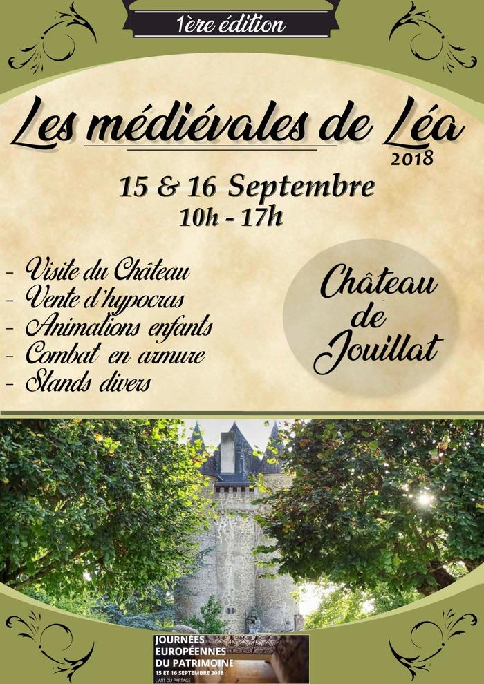 Journées du patrimoine 2018 - Animations au château de Jouillat