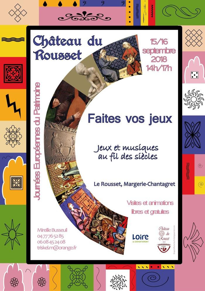 Journées du patrimoine 2018 - Visite et animations «Faites vos jeux, jeux et musique au fil des siècles».