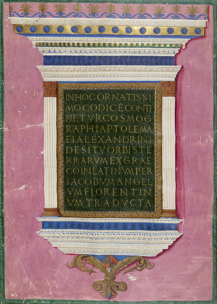 Crédits image : © Ptolémée, Cosmographie. BnF, Manuscrits latin 4802. Copyright BnF.
