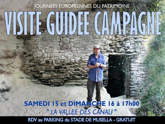 Journées du patrimoine 2018 - visite guidée dans la campagne bonifacienne : la vallée des Canali