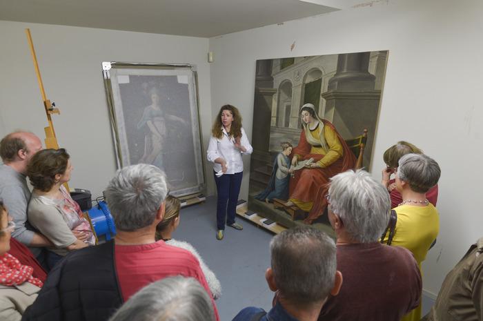 Journées du patrimoine 2018 - Visite guidée de l'atelier de restauration de Peinture et Arts Graphiques
