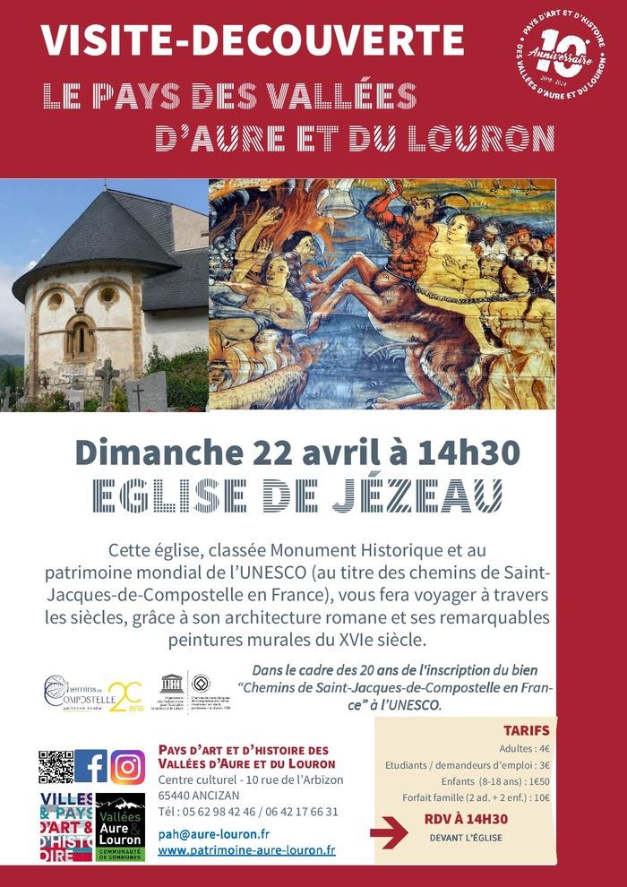 VIsite guidée de l'église de Jézeau - patrimoine mondial de l'UNESCO