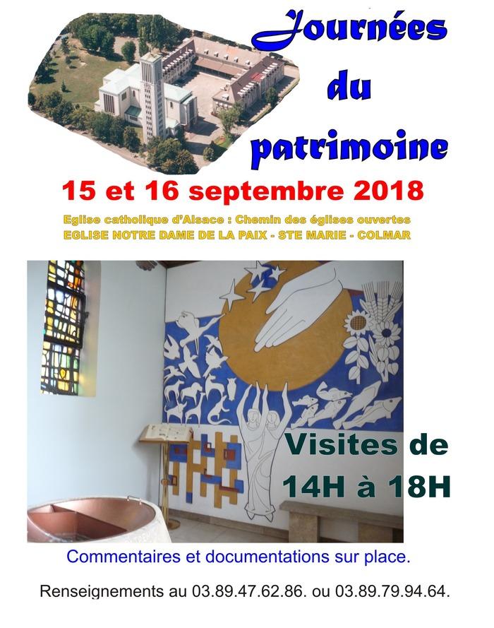 Journées du patrimoine 2018 - Visite guidée de l'église Sainte-Marie de Colmar