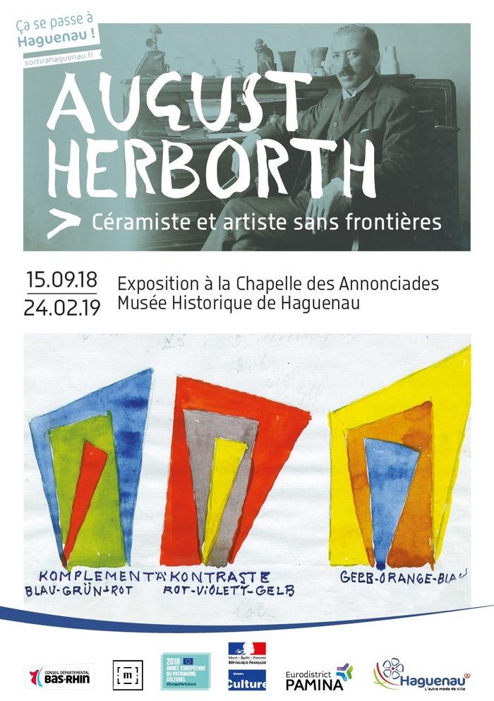 Journées du patrimoine 2018 - Visite guidée de l'exposition August Herborth, céramiste et artiste sans frontières