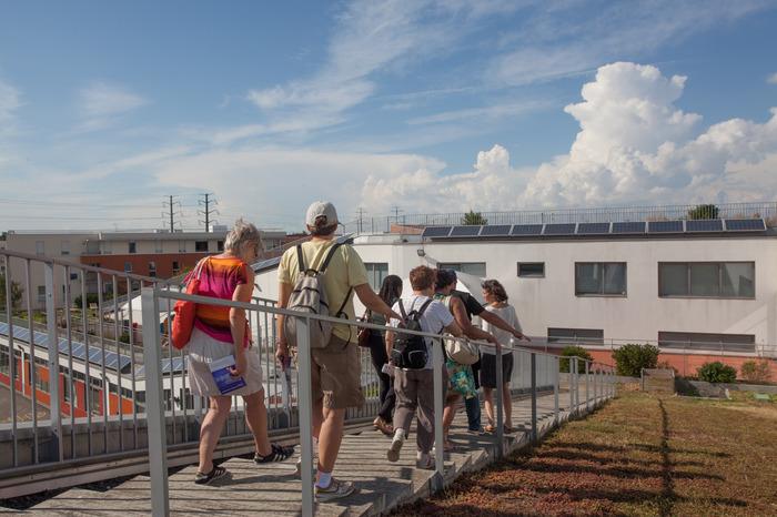 Journées du patrimoine 2018 - Visite guidée de la toiture végétalisée de la Maison de l'Enfance Aimé Césaire à Créteil