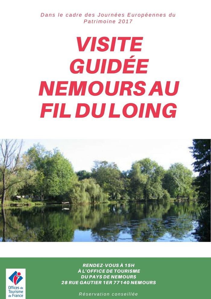 Journées du patrimoine 2017 - Circuit commenté de Nemours au fil du Loing