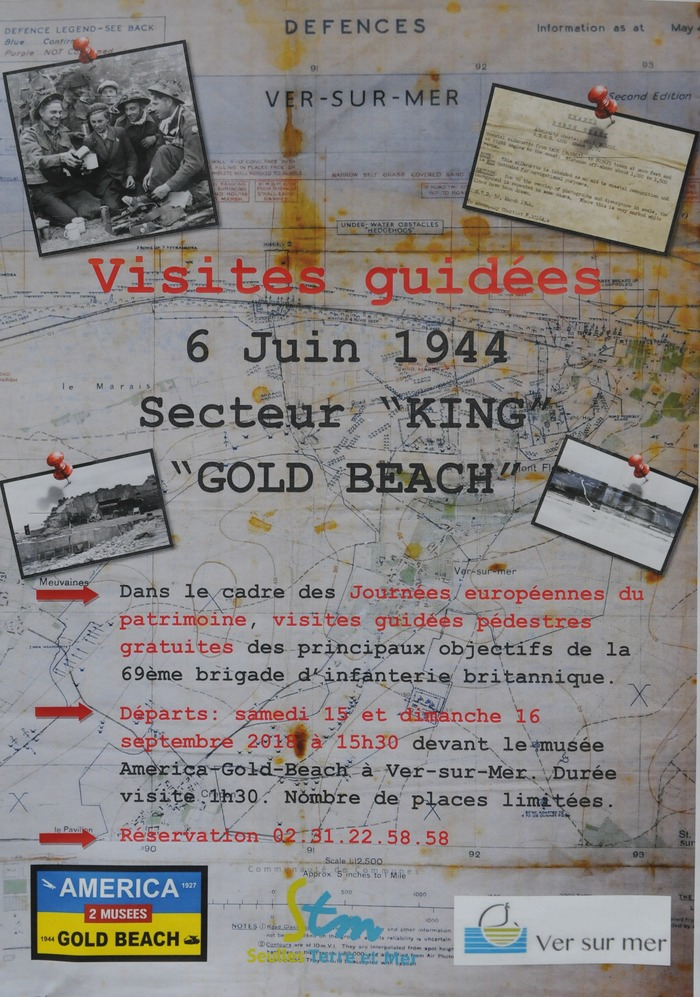 Journées du patrimoine 2018 - Circuit guidée sur le débarquements britanniques sur les secteurs King de Gold Beach 6 juin 1944