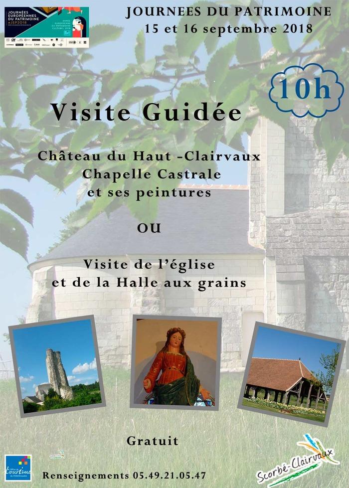 Journées du patrimoine 2018 - Visite guidée du bourg de Scorbé -Clairvaux