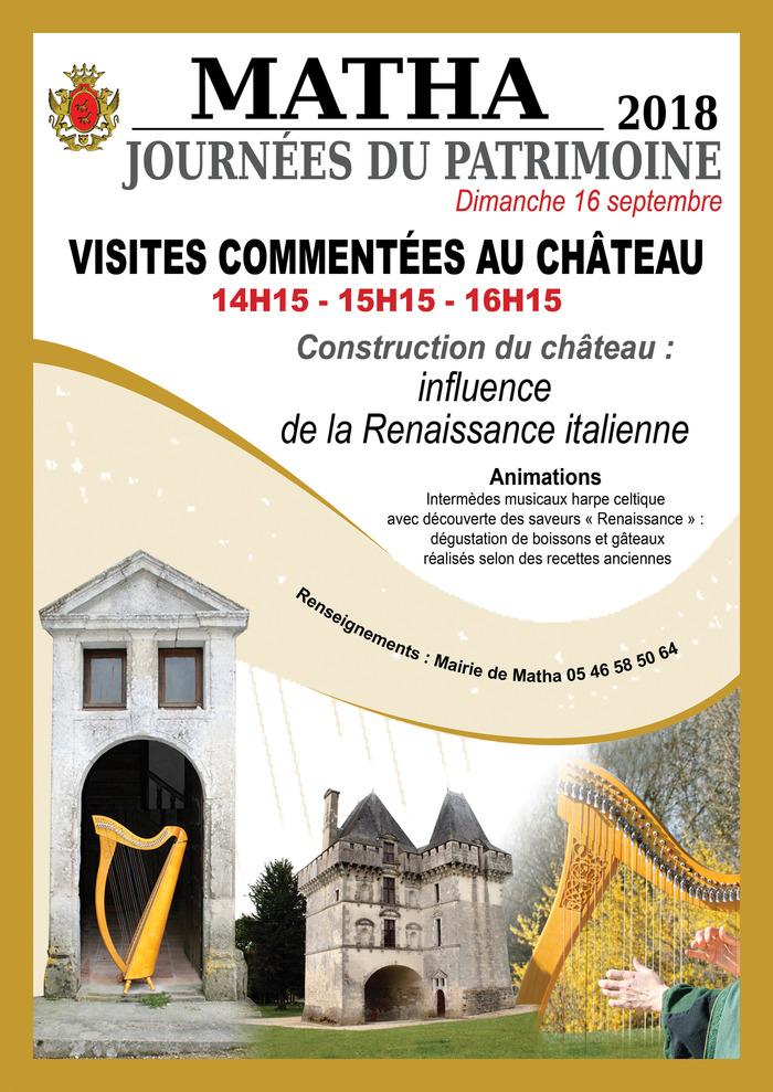 Journées du patrimoine 2018 - Visite guidée du château et découverte des saveurs de la Renaissance
