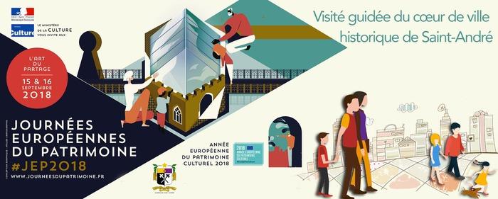 Journées du patrimoine 2018 - Visité guidée du cœur de ville historique de Saint-André