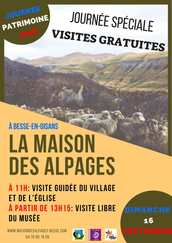 Journées du patrimoine 2018 - Visite guidée du village et de l'église de Besse-en-Oisans.