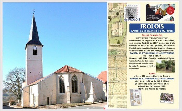 Journées du patrimoine 2018 - Visite guidée et circuit pédestre au départ de l'église Saint-Martin