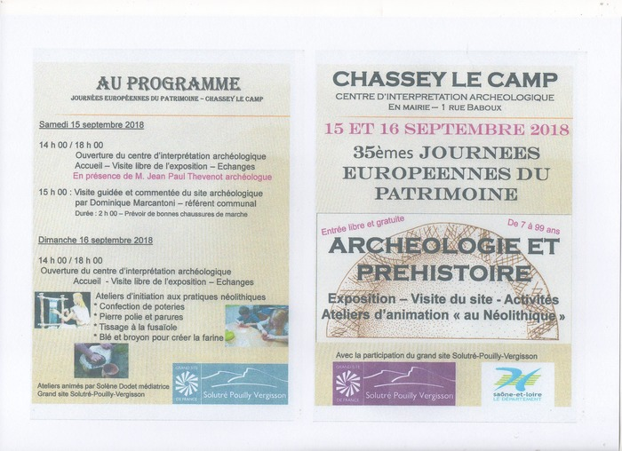 Journées du patrimoine 2018 - Visite guidée et commentée du site archéologique de Chassey-le-Camp