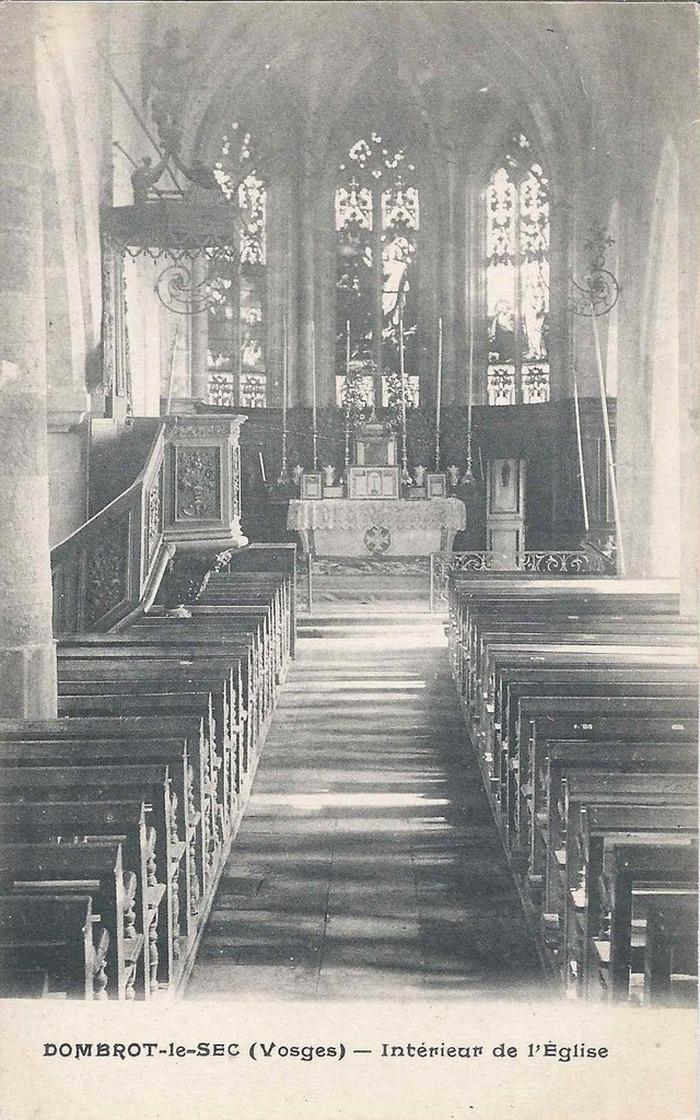 Journées du patrimoine 2019 - Eglise Saint-Brice de Dombrot-le-Sec