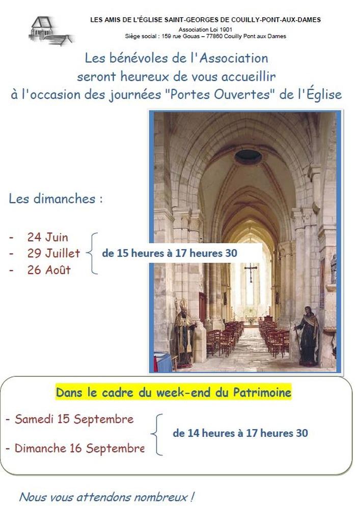 Journées du patrimoine 2018 - Visite librede l'église Saint-Georges