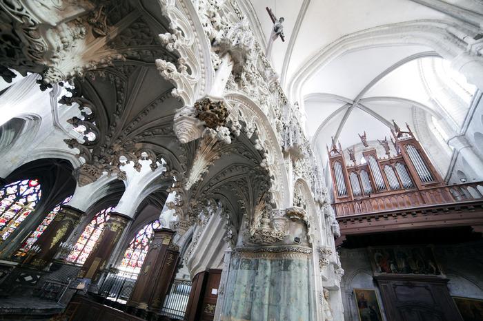 Crédits image : Jubé de l'église Sainte-Madeleine - Photographie : Adrien Clergeot, Ville de Troyes