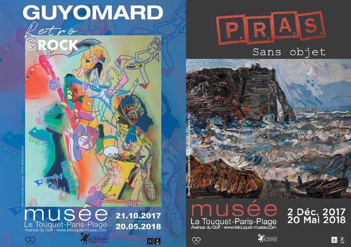 Visite libre des expositions Guyomard, Rétro & Rock, et Pras, Sans objet