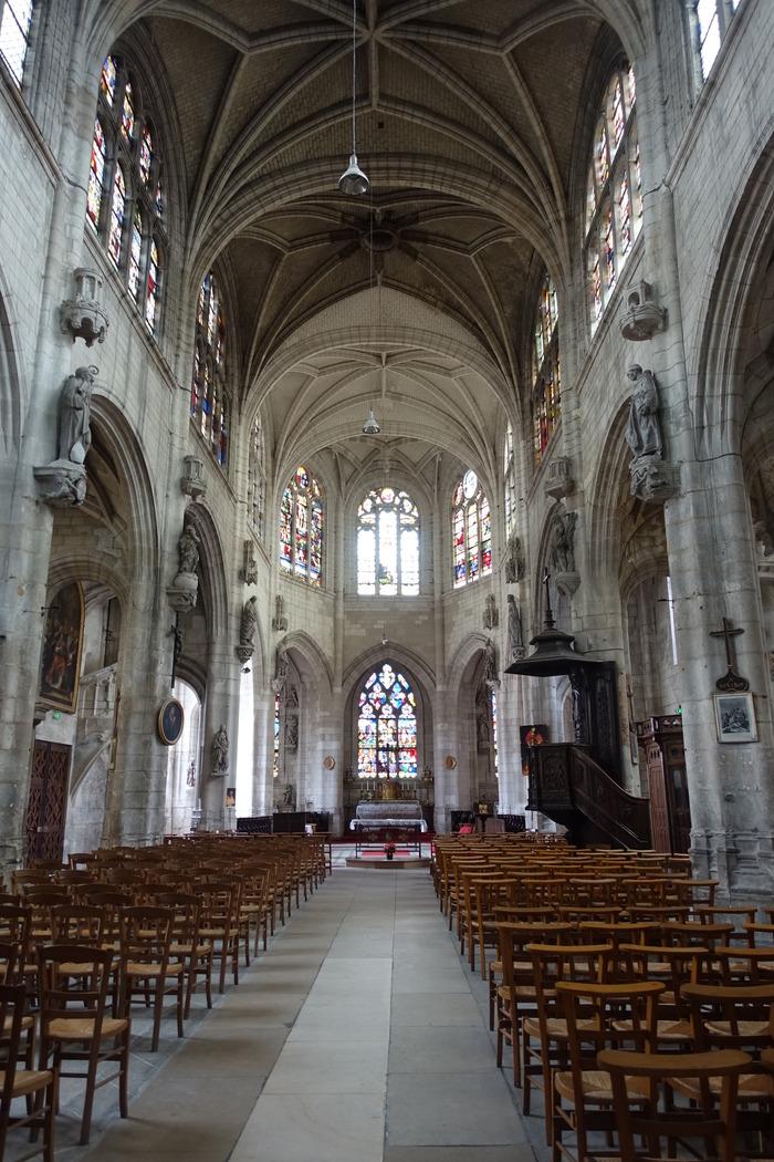 Crédits image : Vue intérieure de l'église Saint-Nicolas - Photographie : Animation du patrimoine, Ville de Troyes