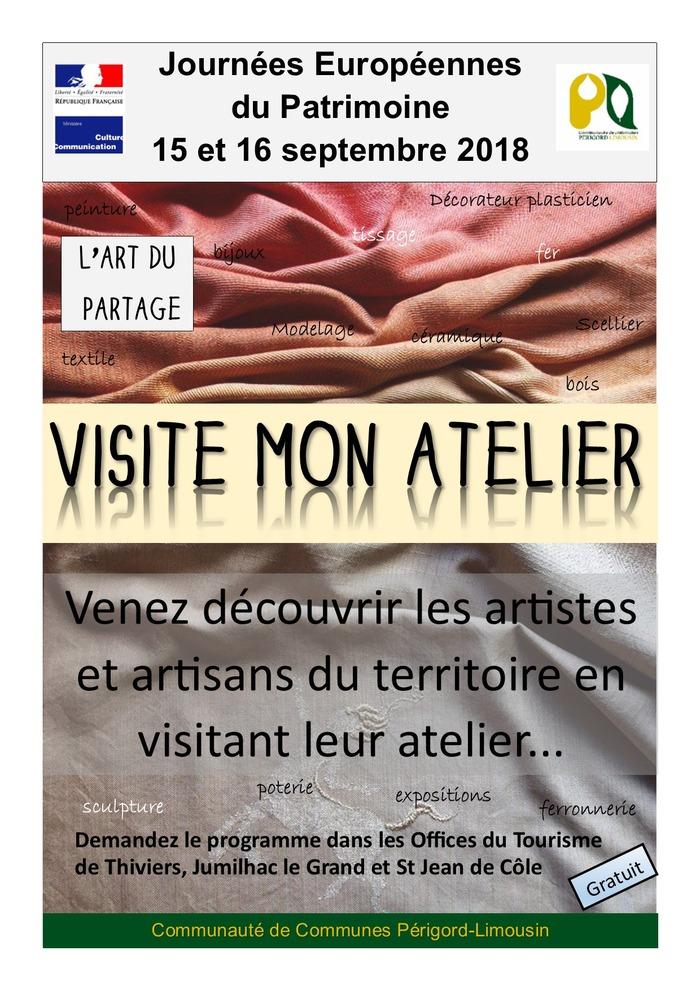 Journées du patrimoine 2018 - Visite mon atelier