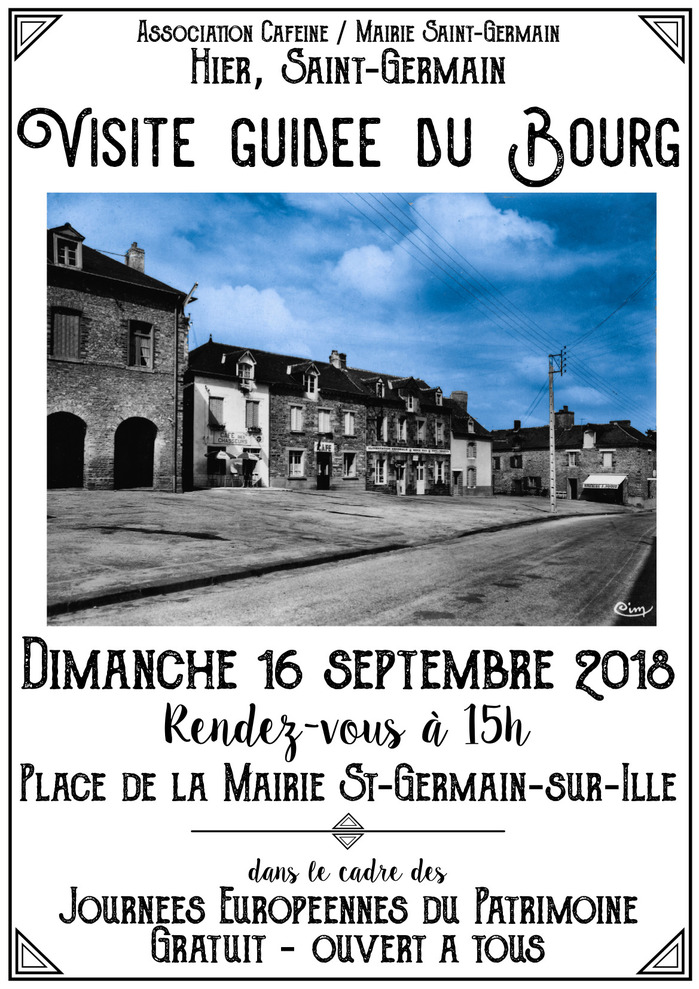 Journées du patrimoine 2018 - Visite Patrimoine de Saint-Germain-sur-Ille